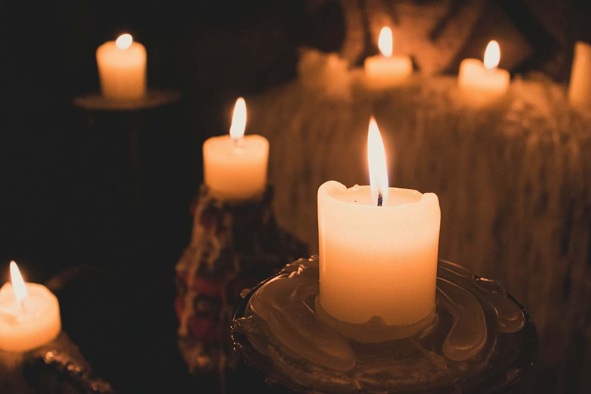 stock photos free  of flame white candle lot fire