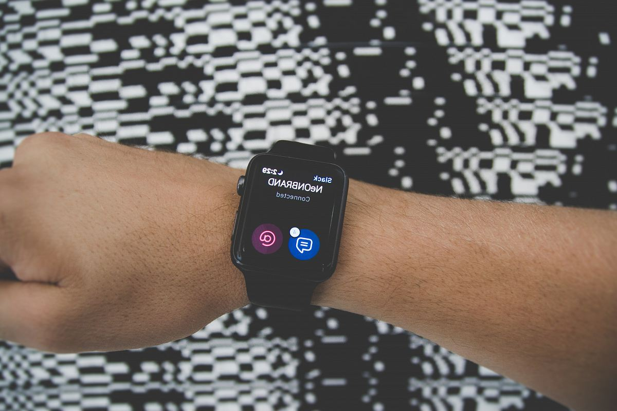 stock photos free  of men with black smartwatch