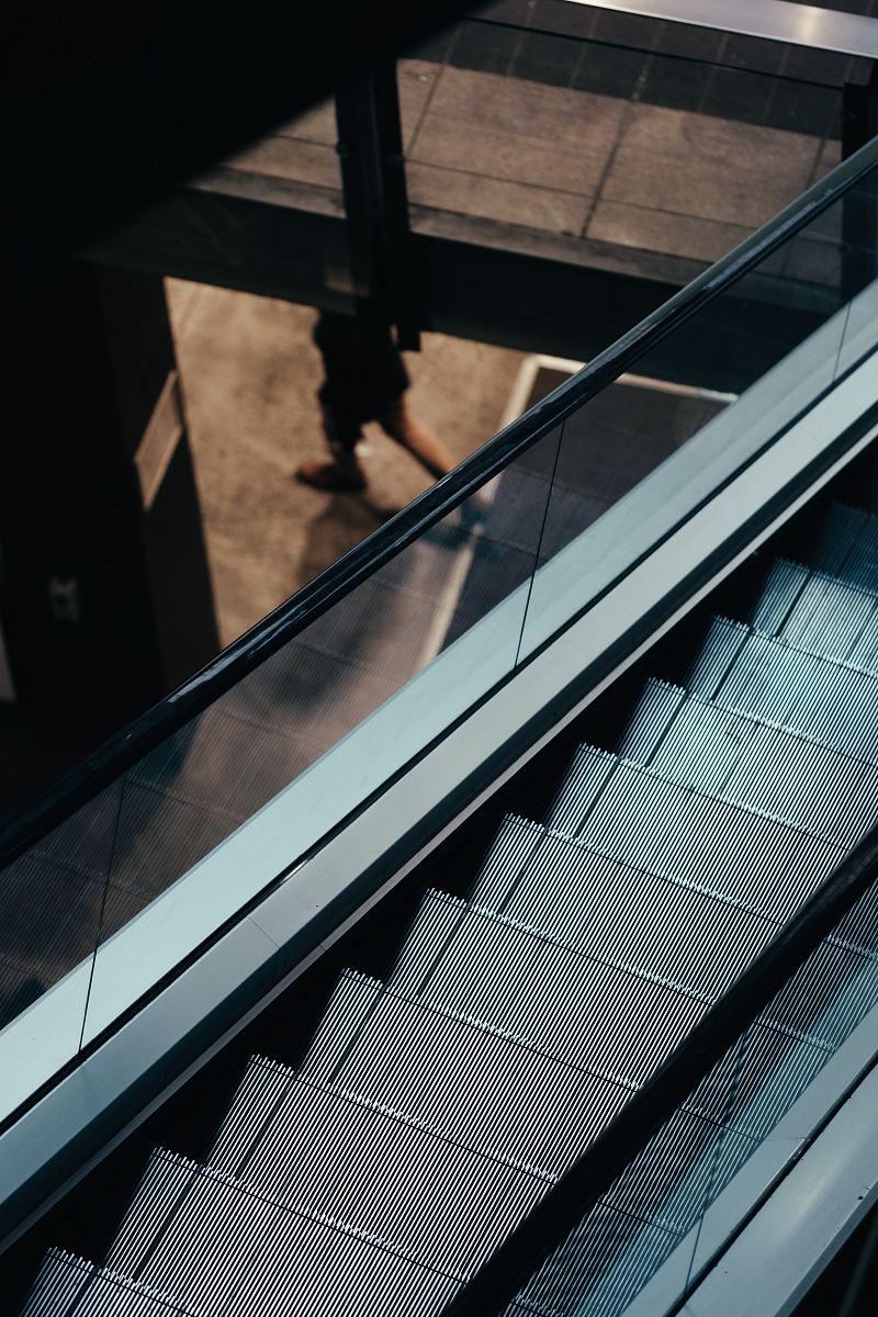 stock photos free  of gray escalator