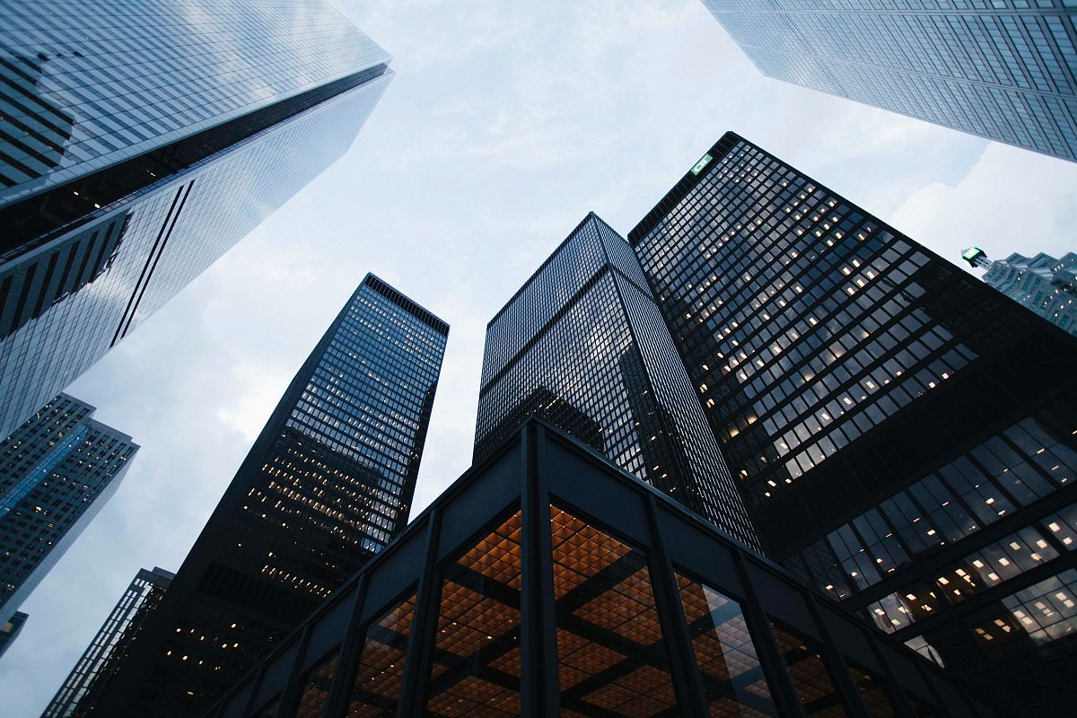 stock photos free  of low angle photo of city high rise buildings during daytime