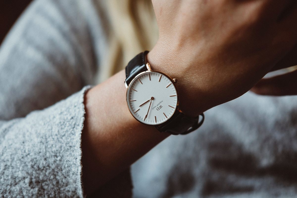 stock photos free  of person wearing analog watch
