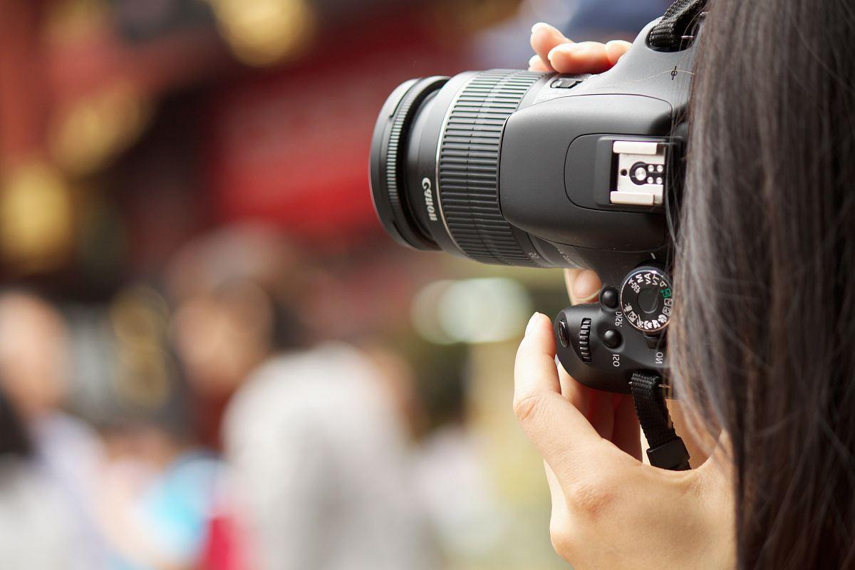 stock photos free  of shallow focus photography black Canon DSLR camera