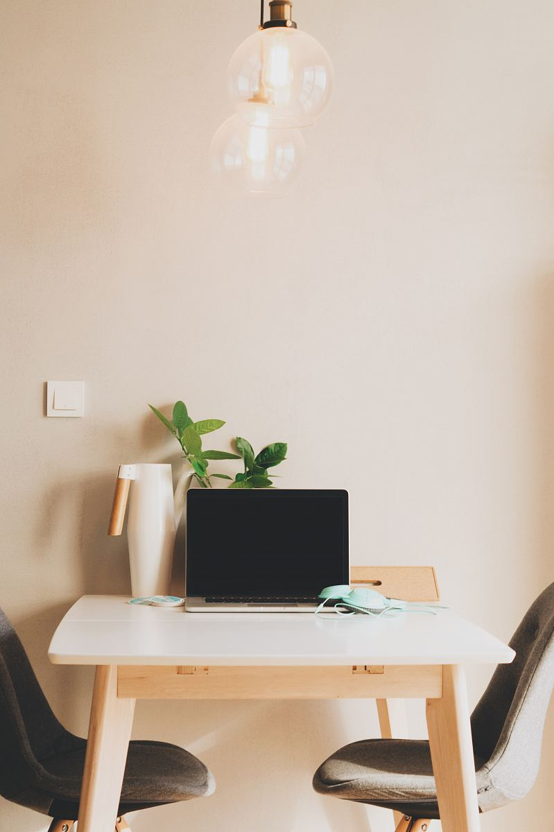 stock photos free  of silver laptop computer on table