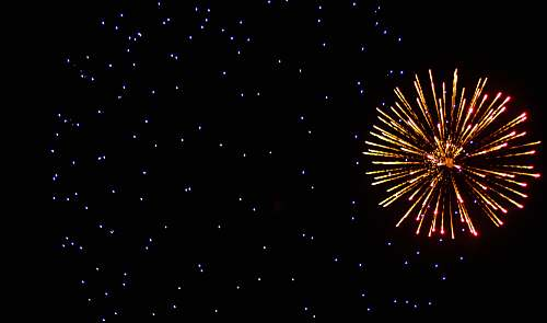 night firework display outdoors