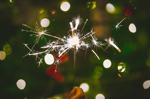 tree lighted sparkles lighting