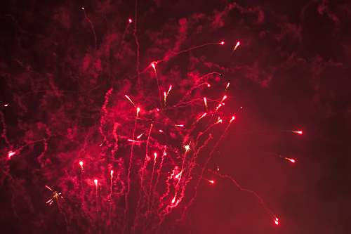outdoors red fireworks nature