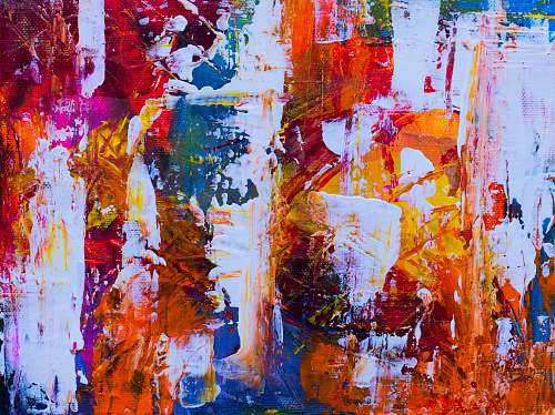 modern art multicolored painting abstract