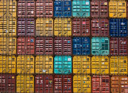 photo pattern stack of cargo trailer shipping container free for commercial use images