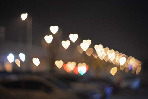 heart bokeh photography of city light