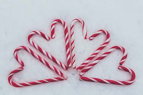 stick red-and-white candy cane lot valentines day