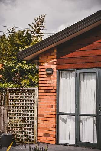 brick closed house gate home decor