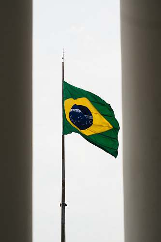 symbol green and yellow flag brasil