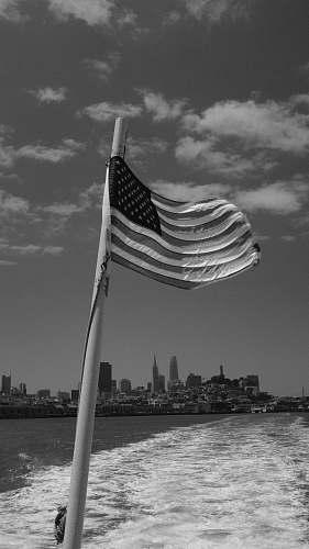 symbol greyscale photography of USA flag black-and-white