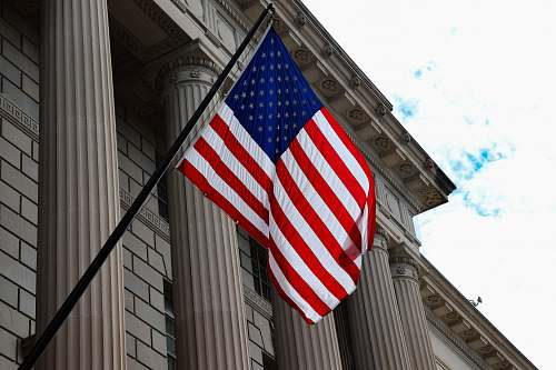 symbol USA flag hanging on wall american flag
