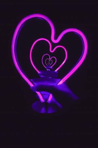 toronto turned on pink heart 3D lamp canada