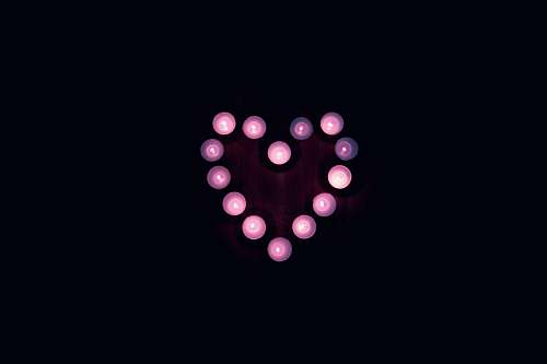 united states heart LED light candles