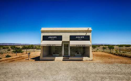 usa white and black Prada store postal office