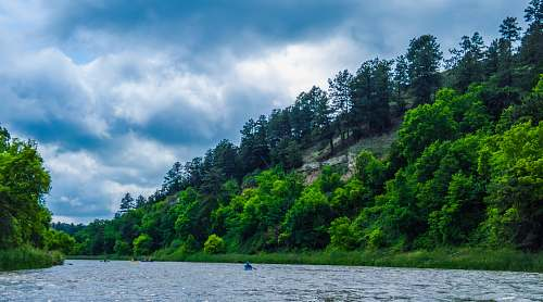 outdoors blue boat in river nature
