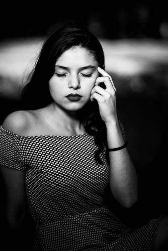 people grayscale photo of woman portrait portrait