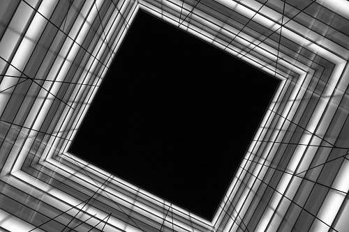 building square black and gray ceiling architecture