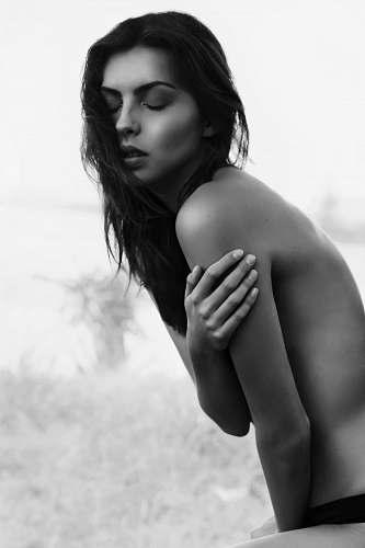 woman topless woman portrait