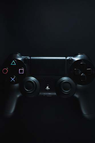 black black Sony PS4 DualShock video gaming