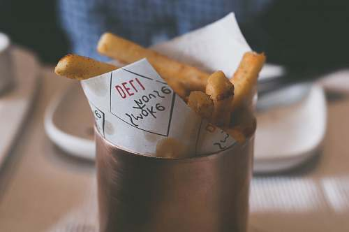 india French fries on contianer cup