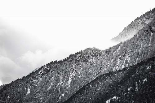 nature grayscale photo of mountain ried-brig