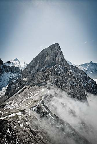 nature mountain covered with snow alps