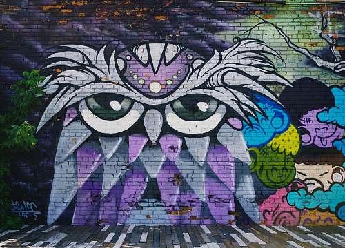 art owl wall mural detroit