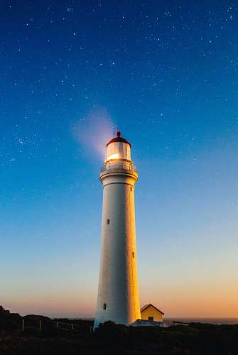 photo stars white concrete lighthouse lock screen background free for commercial use images