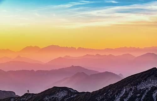 sky landscape photography of mountains nature