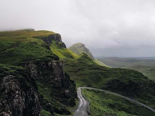 landscape concrete road between mountains road