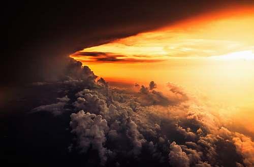 sky sea of clouds clouds