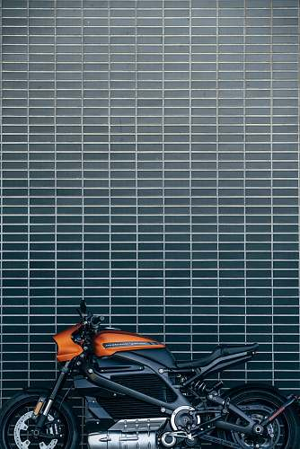 motorcycle orange and black motorcycle vehicle