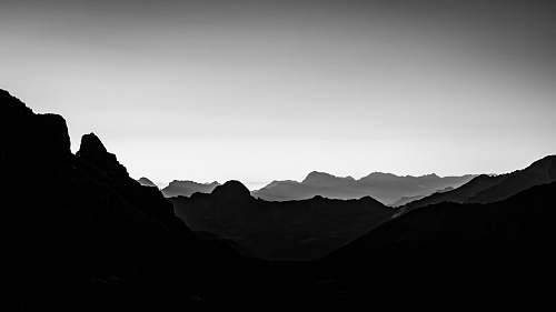 nature silhouette of mountain mountain