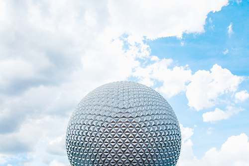 disney round grey architectural structure spaceship earth
