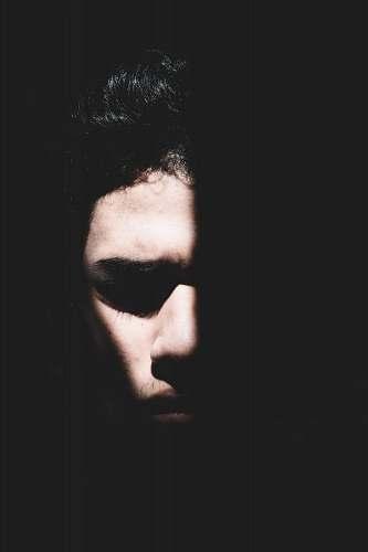 portrait silhouette of half human face people