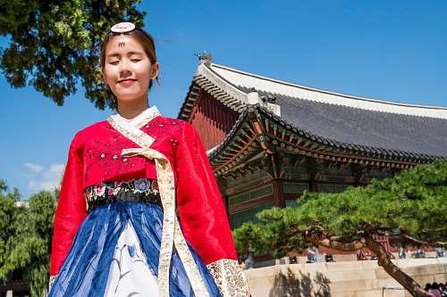 human woman wearing Korean traditional dress people