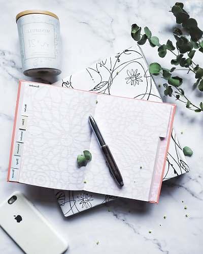 text white notebook white