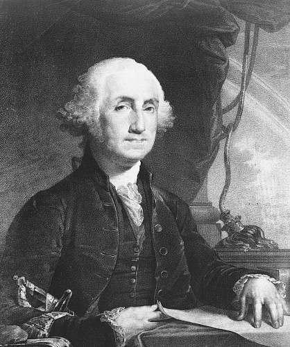 grey President George Washington portrait