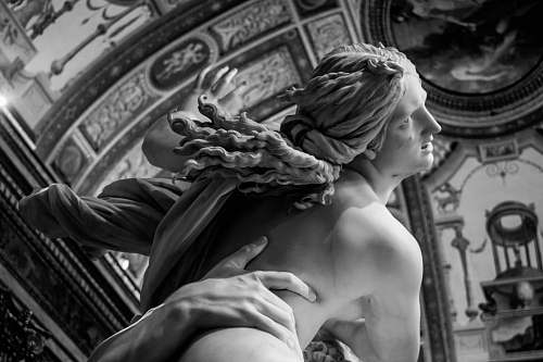 sculpture gray statue of a woman rome