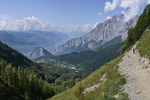 slope mountain during daytime mountain