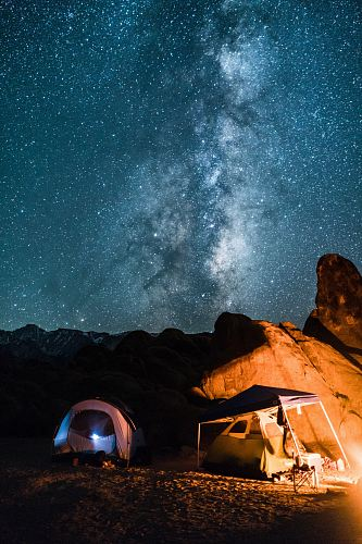 photo campers under milky way free for commercial use images
