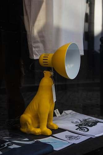 apparel yellow dog table lamp sleeve