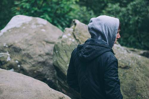 person person in black hoodie near gray rocks united kingdom