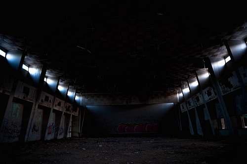 lighting empty concrete building building