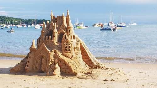 nature brown sand castle boat