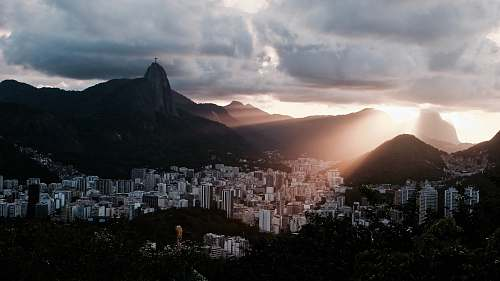 photo rio de janeiro urban place under heavy clouds sugarloaf mountain free for commercial use images