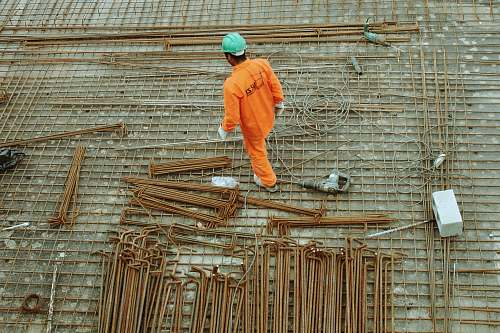 construction man walking on construction site worker